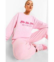 ho ho ho sweater, pale pink