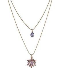 colar armazem rr bijoux duplo curto cristais
