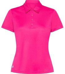 perf ss p t-shirts & tops polos rosa adidas golf