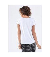camiseta liz easywear manga curta feminina