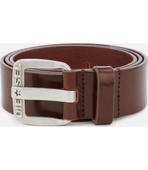 diesel men's b-star leather belt - tan - w40/100cm - tan