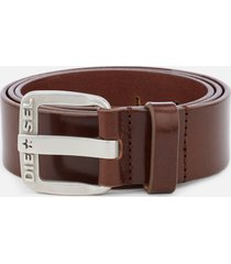 diesel men's b-star leather belt - tan - w40/100cm - tan