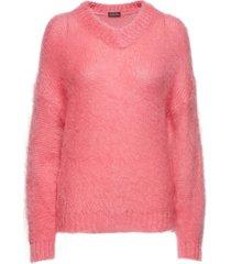 nicola, 586 nicola knit gebreide trui roze stine goya