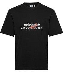adv graphic tee t-shirts short-sleeved svart adidas originals