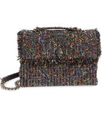 kurt geiger london large kensington tweed shoulder bag - black