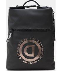 technical fabric urban backpack - black - u
