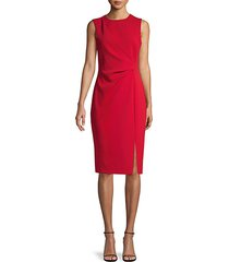 front-slit sheath dress