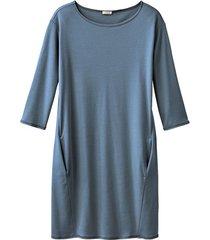 jersey jurk, nachtblauw 36/38