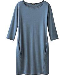 jersey jurk, rookblauw 40