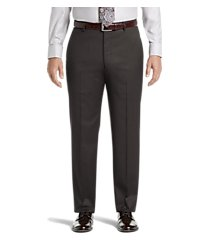 signature collection tailored fit flat front dress pants - big & tall clearance by jos. a. bank