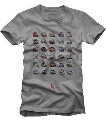 camiseta capacetes reserva cinza - cinza - masculino - dafiti
