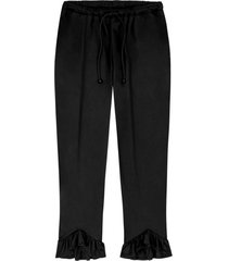 spodnie flounce pants