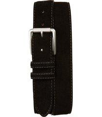 men's torino calfskin suede belt, size 34 - black