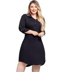 vestido corto para mujer negro mp