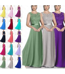 new long bridesmaid prom dresses chiffon formal ball party cocktail evening gown