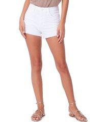 women's paige margot denim shorts, size 32 - white