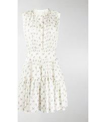 chloé bouquet-print sleeveless dress