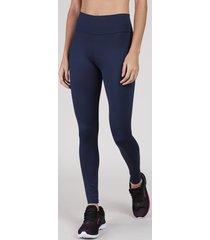 calça legging feminina esportiva ace básica azul marinho