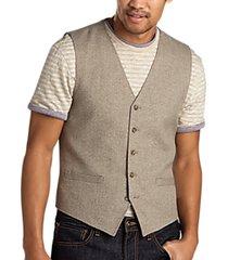joseph abboud taupe modern fit vest