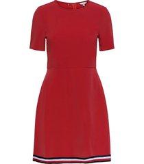 angela glb stp dress ss dresses everyday dresses röd tommy hilfiger