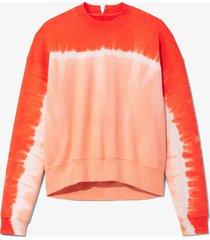 proenza schouler white label tie dye sweatshirt apricot/brightorange l