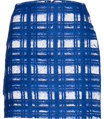 sally kort kjol blå custommade
