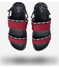 sandały kubota tuti burgundowe