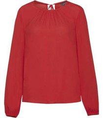 blusa roja tommy hilfiger riva blouse ls