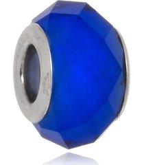 berloque boca santa semijoias cristal azul anil ouro branco