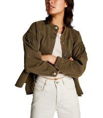 cotton on pintuck utility bomber jacket
