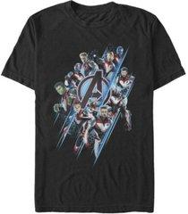 marvel men's avengers endgame group suit up, short sleeve t-shirt