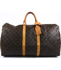 louis vuitton vintage keepall 55 monogram travel bag