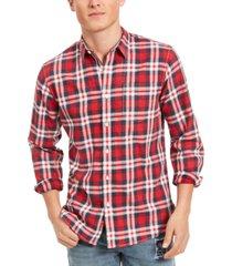 sun + stone men's garcia plaid shirt, created for macy's