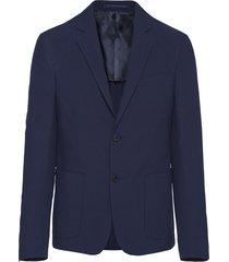 prada seersucker blazer - blue