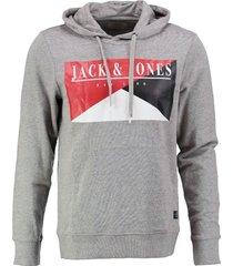 jack & jones zachte grijze slim fit sweater hoodie valt kleiner