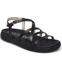 b-7412 pergamena shoes summer shoes flat sandals svart wonders