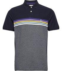 chest stripe polo shirt polos short-sleeved blå original penguin