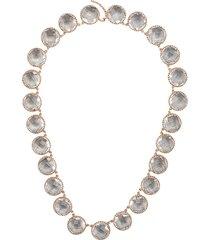 larkspur & hawk olivia button riviere necklace - rosegold