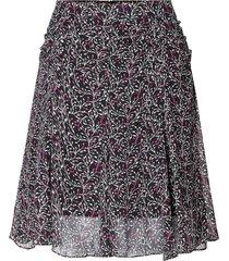 rok met bloemenprint kaylan  zwart
