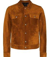 tom ford shirt-style trucker jacket - orange