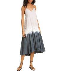 women's sea zelda tie dye stretch cotton midi dress