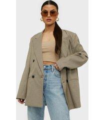 co'couture oversize check blazer kavajer