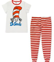 dr. seuss cat in the hat family pajama set