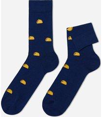 calzedonia patterned lisle thread ankle socks man blue size tu