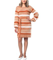 kit & sky striped sweater dress