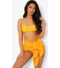 chiffon midi strand sarong, orange
