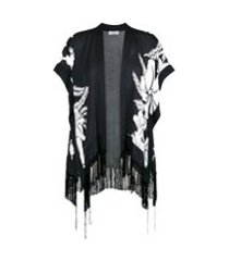 amir slama kimono estampado - preto