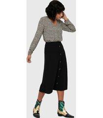 falda jacqueline de yong larga negro - calce regular
