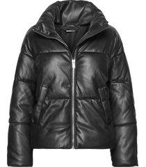 kit pu puffer jacket gevoerd jack zwart gina tricot