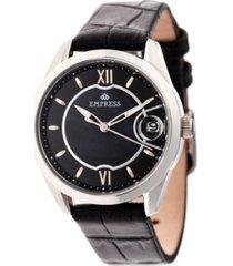 empress messalina automatic black leather watch 34mm